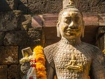 Resti di uno stile di khmer della costruzione Fotografie Stock Libere da Diritti