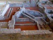 Resti di vecchia città romana Sirmio, Sremska Mitrovica, Serbia Fotografia Stock