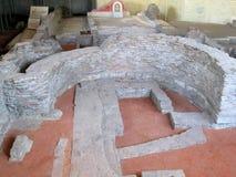 Resti di vecchia città romana Sirmio, Sremska Mitrovica, Serbia Fotografia Stock Libera da Diritti
