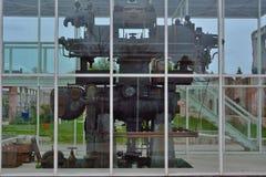 Resti a macchina di industriale in un museo del tessuto Fotografie Stock