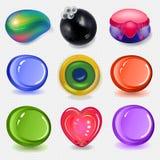Resti multicolori del sapone messi Fotografie Stock