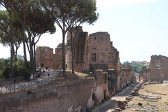 Resti - ROMA - Italia romani - sitio arqueológico romano Fotos de archivo