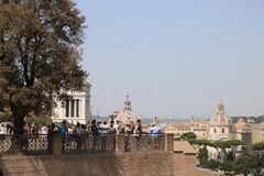 Resti - ROMA - Italia romani - sitio arqueológico romano Fotos de archivo libres de regalías
