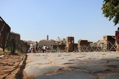 Resti - ROMA - Italia romani - sitio arqueológico romano Fotografía de archivo libre de regalías