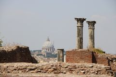 Resti romani - ROMA - Italia - Roman archaeological site Royalty Free Stock Photos