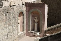 Resti romani - ROMA - Italia - Roman archaeological site Stock Photography