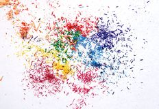 Resti variopinti della grafite Fotografie Stock