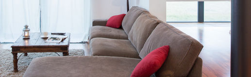 Resting area inside living room Stock Photo