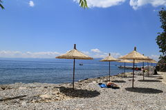 Resting area Lake of Ohrid Royalty Free Stock Images