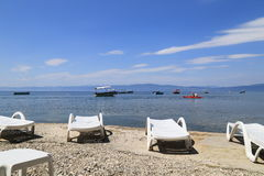 Resting area Lake of Ohrid Royalty Free Stock Image