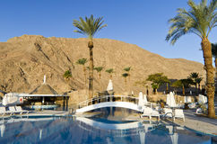 Resting area near resort hotel, Eilat, Israel Royalty Free Stock Images