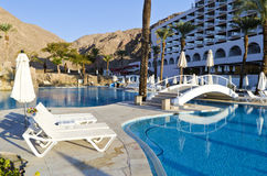 Resting area near resort hotel, Eilat, Israel Royalty Free Stock Image