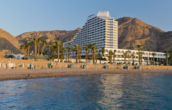 Resting area near resort hotel, Eilat, Israel Stock Image