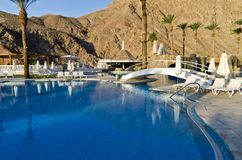 Resting area near resort hotel, Eilat, Israel Stock Images