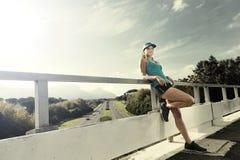 Resting athlete Royalty Free Stock Image