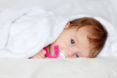 Resting baby. Portrait of a resting baby Royalty Free Stock Photography