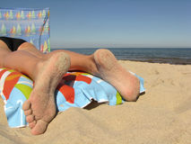 Resting on beach Royalty Free Stock Images