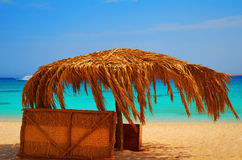 Resting on a beach in Egypt stock photo