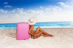 Resting on the beach Stock Photos