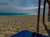Resting in the beatiful beach. In Cayo Santa Maria stock photography