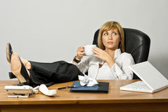 Resting Beautiful Business Lady Royalty Free Stock Images