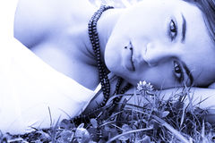 Resting beauty royalty free stock photos