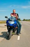 Resting biker royalty free stock images