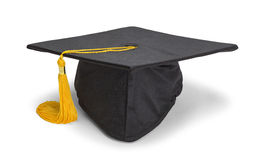 Resting Black Grad Hat Stock Image