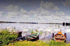 Resting boats. Stock Image