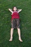 Resting Boy Royalty Free Stock Photos