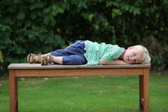 Resting boy Royalty Free Stock Images