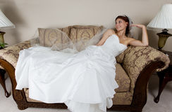 Resting bride Stock Images