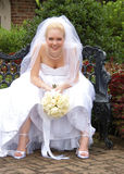 Resting Bride Stock Image