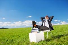 Resting businessman Stock Images
