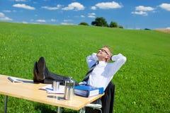 Resting businessman Royalty Free Stock Photos