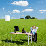 Resting businesspeople Stock Images