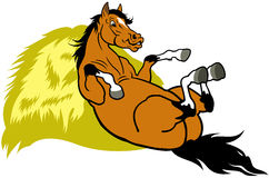 Resting cartoon horse Royalty Free Stock Photography