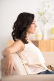 Resting in chair Royalty Free Stock Image