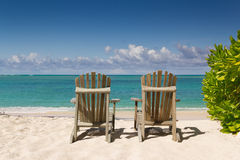 Resting Chairs on the beach Royalty Free Stock Photos