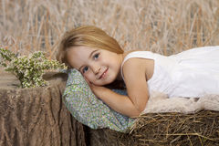 Resting country girl Royalty Free Stock Photo