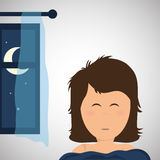 Resting design. sleep icon. bedtime concept, vector illustration Royalty Free Stock Photography