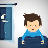 Resting design. sleep icon. bedtime concept, vector illustration Stock Image