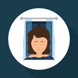 Resting design. sleep icon. bedtime concept, vector illustration Royalty Free Stock Photos