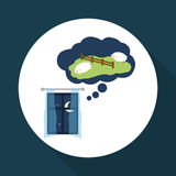 Resting design. sleep icon. bedtime concept, vector illustration Stock Photo