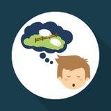 Resting design. sleep icon. bedtime concept, vector illustration Royalty Free Stock Photo