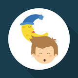 Resting design. sleep icon. bedtime concept, vector illustration Stock Images
