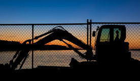 Resting Digger Royalty Free Stock Image