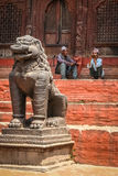 Resting in Durbar Sqare Royalty Free Stock Images