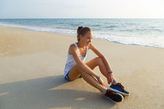 Resting after exercise Stock Images