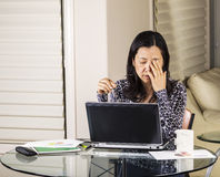 Resting Eyes at Work Stock Images